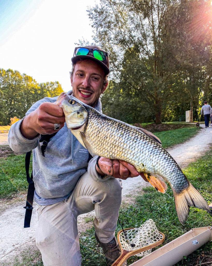 Chevaine attrapé en Street Fishing a troyes